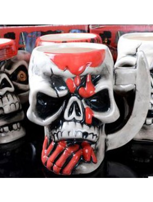 Personalized Pirate Skull Half Handmade Ceramic Cup