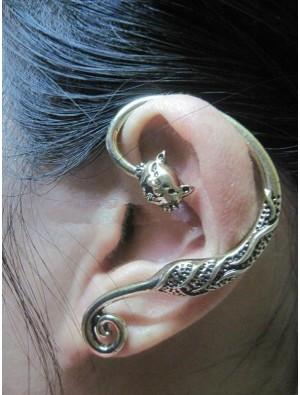 Vintage Owl Animals  Single Earrings&Ear Clip