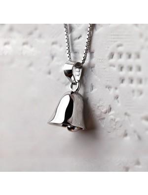 Original Sterling Silver Jingle Bells Pendant Clavicle Necklace