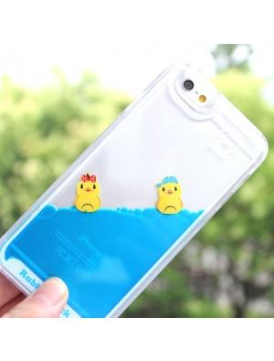 Cute Bathing Little Duck One Piece Blue Liquid IPhone 5/5S/6/6S Cases