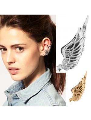 Vintage Angel Wings Single Earrings&Ear Clip