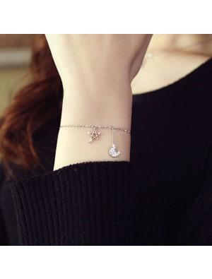 Unique Design Star Moon Fashion Alloy Fashion Women Bracelet