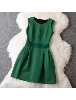 Roman Style Slim Green Party Dress/Evening Dress