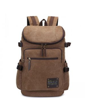 Fashion Large Capacity Camping Bag School Laptop Backpack Retro Zipper Men's Canvas Travel Backpack