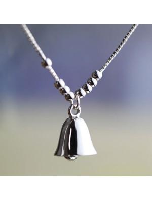 Fashion Beaded Sterling Silver Lucky Bells Pendant Lady Bracelets