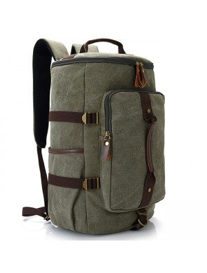 Retro Multifunction Zipper Large Capacity Travel Rucksack Men's Gym Shoulder Bag Handbag School Canvas Backpack