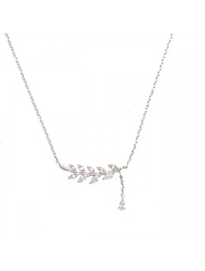 Sweet Women's Accessories Leaf Summer Olive Leaves Clavicle Necklace