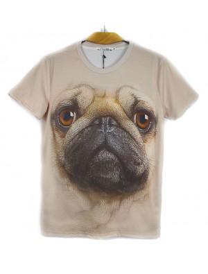 Original 3D Stereoscopic Animal Pattern Couple T-shirt