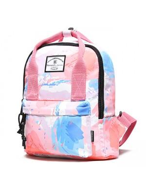 Creative Rainbow Gradient Graffiti Waterproof Multifunction Handbag Backpack