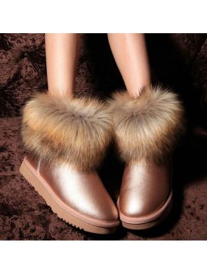 Fashion Non-slip Waterproof Wool Snow Boots