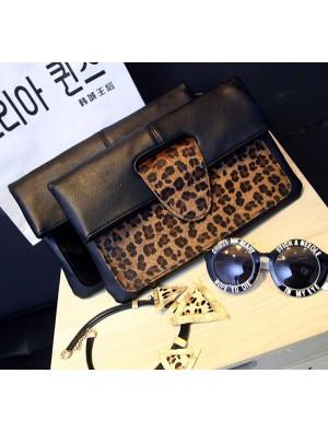 Ladies Horsehair Leopard High-end Packet Envelope Bag