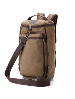 Fashion Bucket Bag Multifunction Large Travel Outdoor Bag Gym Shoulder Bag Canvas Camping Backpack