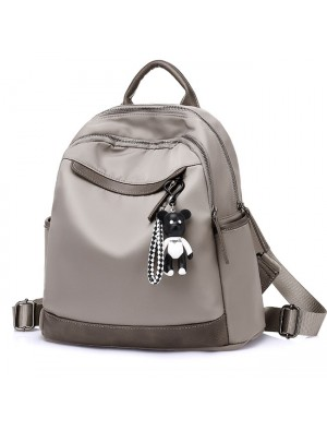 Leisure Oxford Grey Nylon Travel Multi-function School Backpack