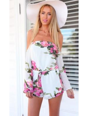 Fashion Sexy Summer Dress Printed Chiffon Jumpsuit&Romper