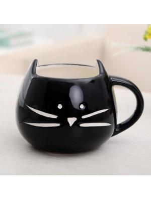 Cute Cat Cartoon Couple Ceramic Mug/Cup