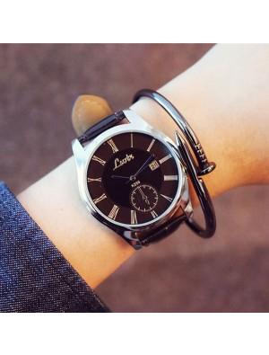 Fashion Simple Big Dial Student Leisure Couple Ultra-thin Waterproof Man Quartz Watch