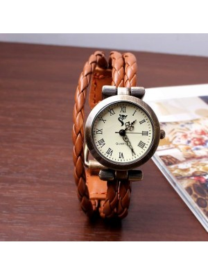 Thin strips leather Wrap Strap Bracelet Watch