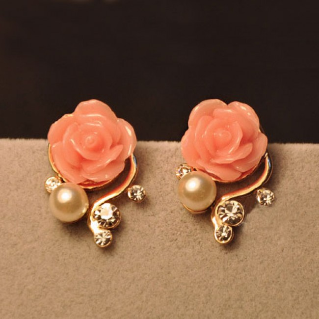 Fashion Rhinestone Bohemia Rose Earrings Only 14 99 Bygoods