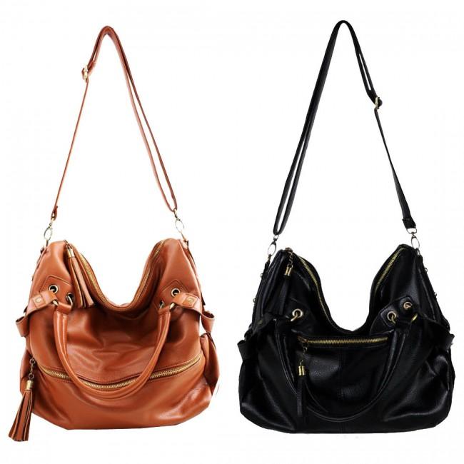 Nice Tassel Leather Cross Body Shoulder Bag &Handbags | Fashion ...