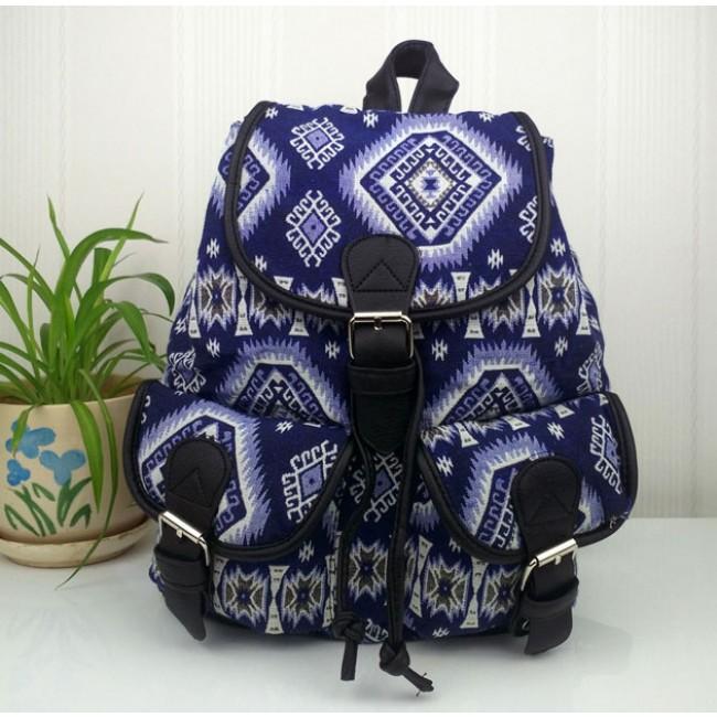 Fashion Geometry Gradient Folk Style Printed Leisure Backpack Schoolbag 1c94e99e7a37d