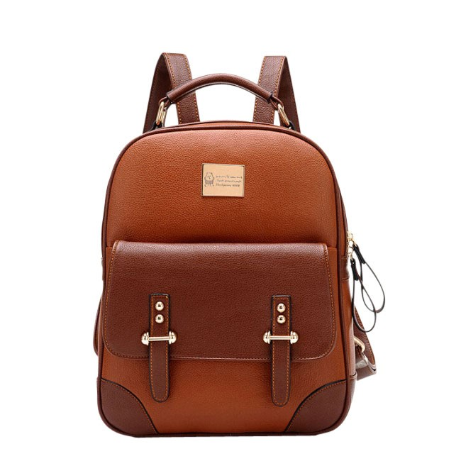 New British Style Vintage Leather Backpack Fashion