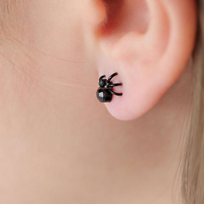Mini Cool Spider Earrings Studs Fashion Jewelry Bygoods Com