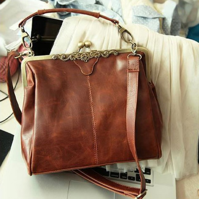 Vintage Hollow Satchel Tote Shoulder Bag Handbag