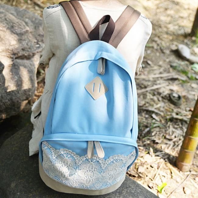 233c5e4888 Fresh Simple Cute Lace Canvas Backpacks