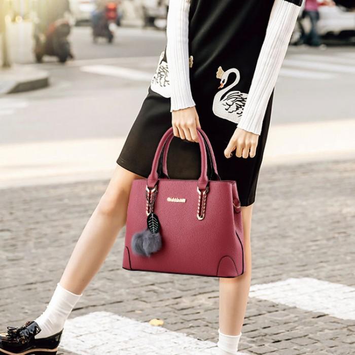 Elegant Ladies Twill Shoulder Bag Autumn Purse Messenger Crossbody Bags Winter Handbag