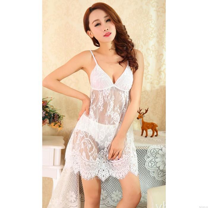 Elegant Lace temperament Nightgown Princess Pyjamas