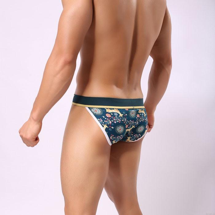 Sexy Christmas Colorful Elk Galaxy Bodysuit Men's Underwear Hot Panties Male Lingerie