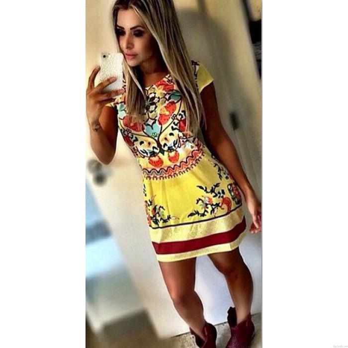 Retro Flower Fashion Printing Dress