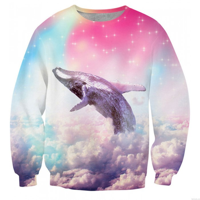 New Unique 3D Star Dolphin Printing Sweatshirts