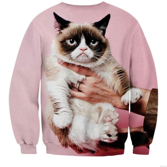 New Fashion Grumpy Cat 3D Digital Printing Sweatshirts