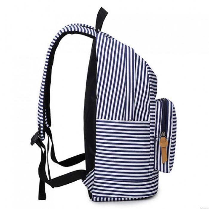 Summer Striped Leisure Canvas Backpack