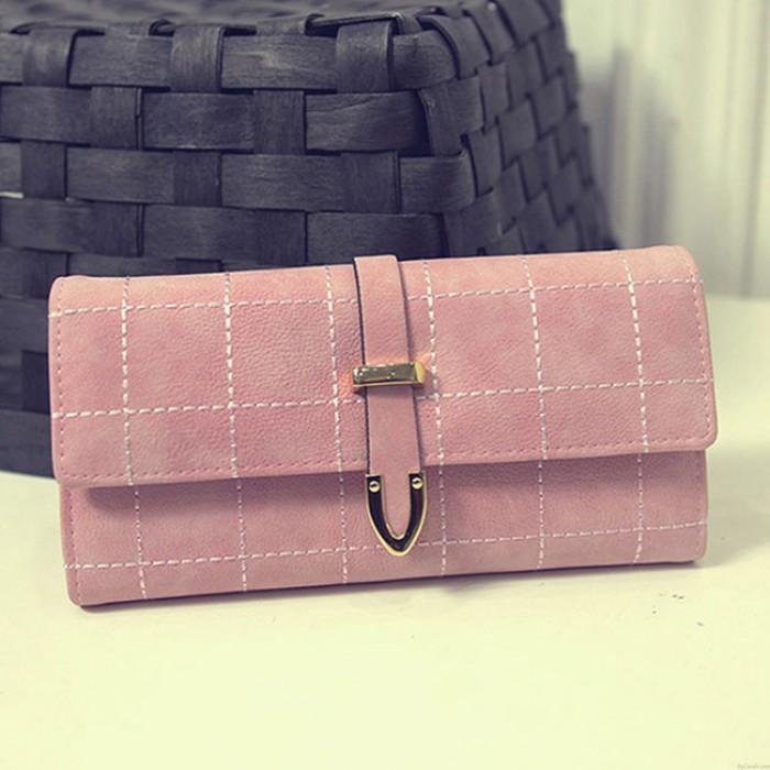 Retro Scrub Arrow Embroidered Long Women Clutch Bag Wallet Purse