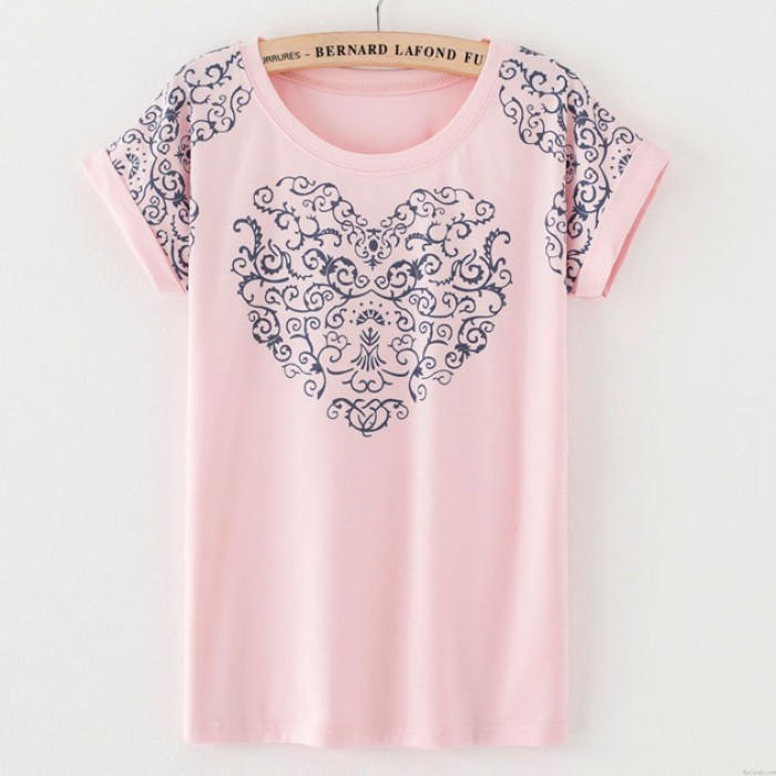 Vintage Palace Flower Print Cotton T-shirt