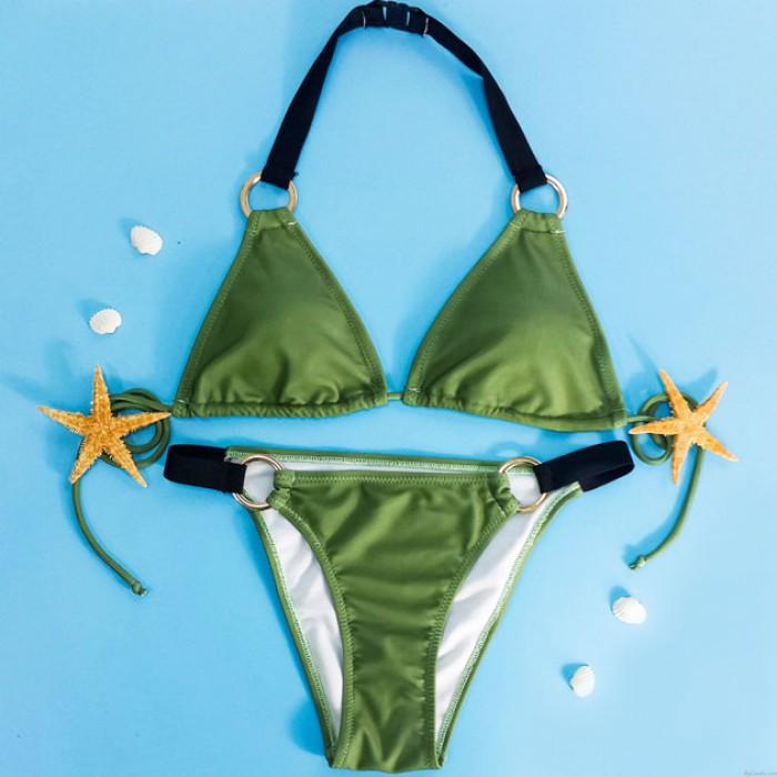 Halter Bikini Set Swimwear Beach Swimsuit Bathingsuit For Girl