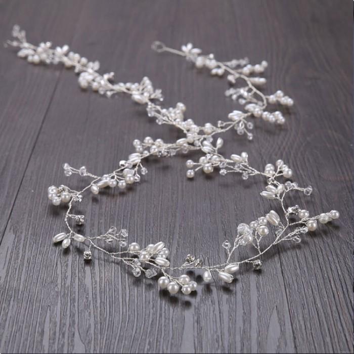 Cute Leaves Pearl Branch Headband Wedding Hair Chain Hair Accessories