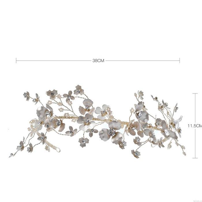 Fresh Mori Garland Bridal Handmade Flower Wedding Headdress Crown Hair Accessories