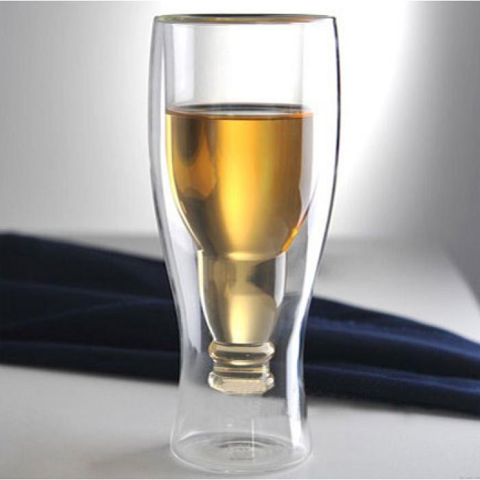 Creative Hand-flown Flip Bottle Double Glass Cup