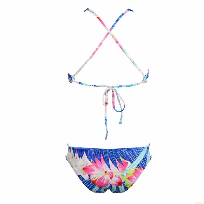 Rope Strap Vest Style Swimwear New Sexy Floral Low Waist Bikini
