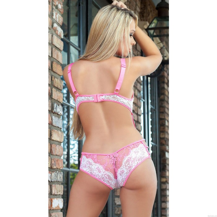 Sexy Lingerie Lace Sexy Perspective Temptation Three Points Lingerie Set