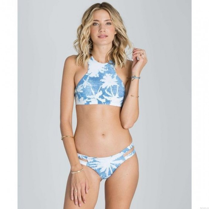 Solid Coconut Bikini Printed Split Swimsuit
