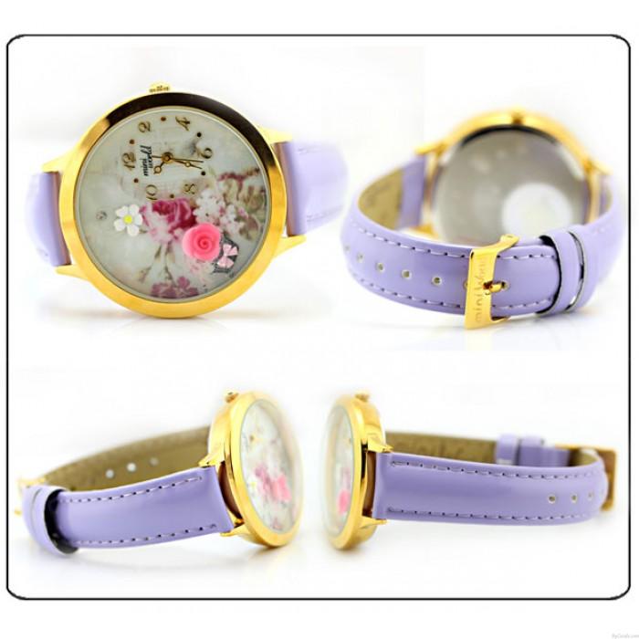 Cute Rose Gold Edge Polymer Clay Watch