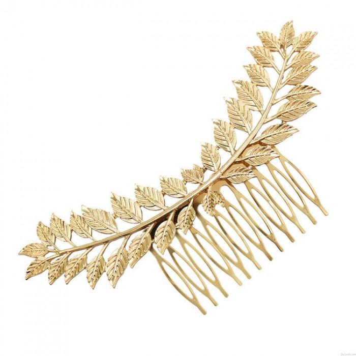 Unique Leaves Alloy Hair Clip Leaf Hair Comb Hair Accessories