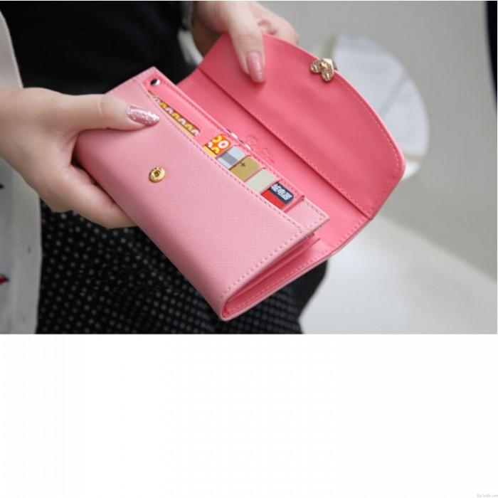 Fashion Cross Pattern Love Diamond Flip Wallet