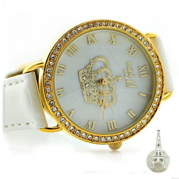 Personalized Rhinestone Crown Polymer Clay Watch