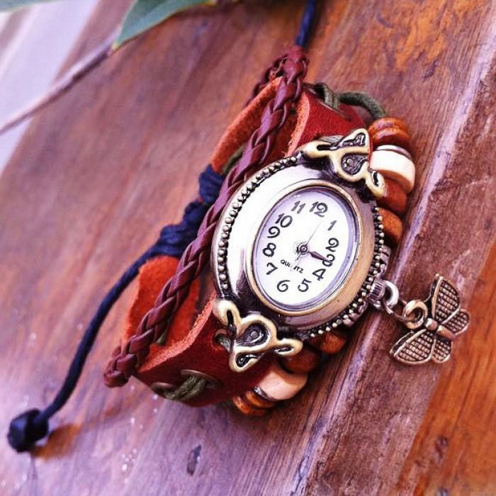 Cute Butterfly Rope Bracelet Watch