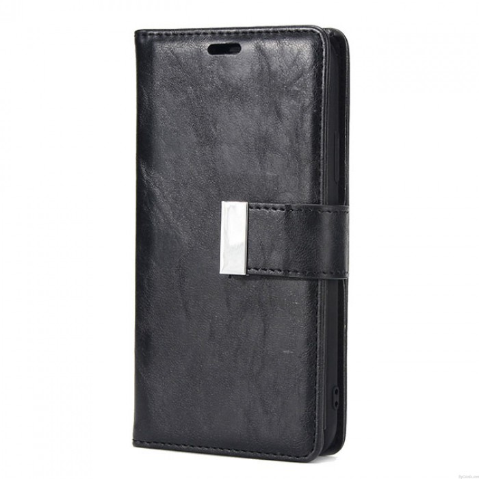 Retro Three Fold Mobile Phone Leather Case Clutch Bag Crack Iphone Wallet